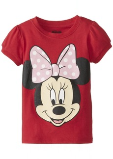 Disney Little Girls' Toddler Minnie Mouse Big Face Girls T-Shirt