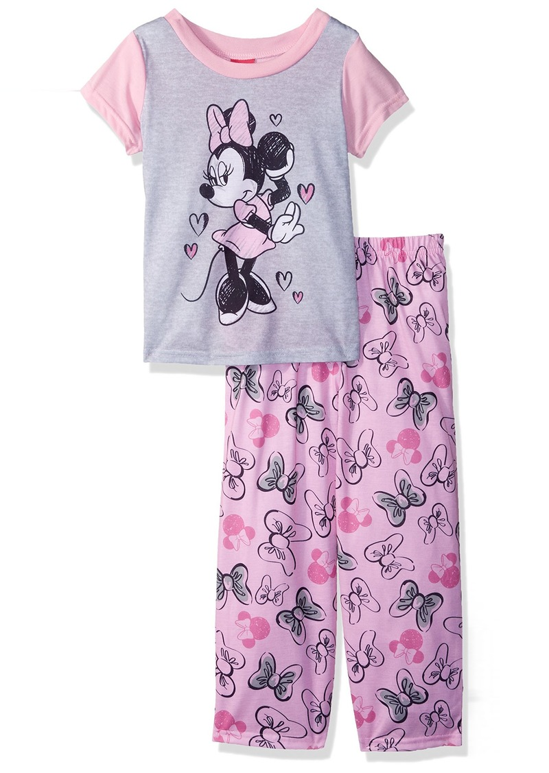c47af95d3e Disney Disney Little Girls  Minnie Mouse Mommy and Me 2-Piece Pajama ...