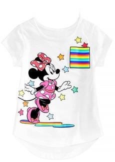 Disney Little Girls Minnie Mouse Starburst Cotton T-Shirt