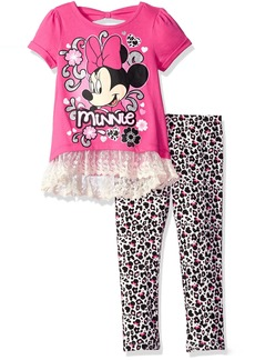 Disney Little Girls' Minnie Mouse Tunic and Legging Set