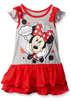 Disney Little Girls' Minnie Rocks The Dots Tunic with Ruffled Sleeves