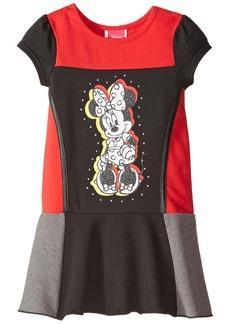 Disney Little Girls' Minnie Short Sleeve Panel Dress