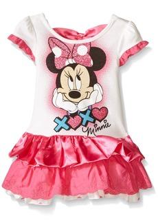 Disney Little Girls' Toddler Minnie Xoxo Eyelet And Satin Dress