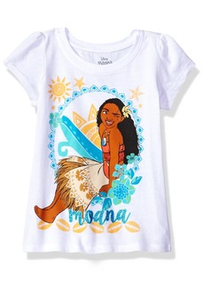 Disney Little Girls' Moana Short Sleeve T-Shirt