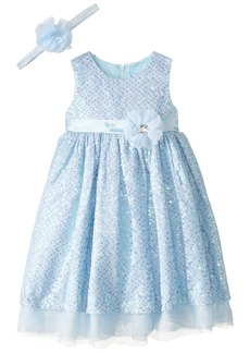Disney Little Girls' Toddler Princess Cinderella Dress with Matching Tiara