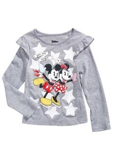 Disney Little Girls Skating Mickey & Minnie T-Shirt