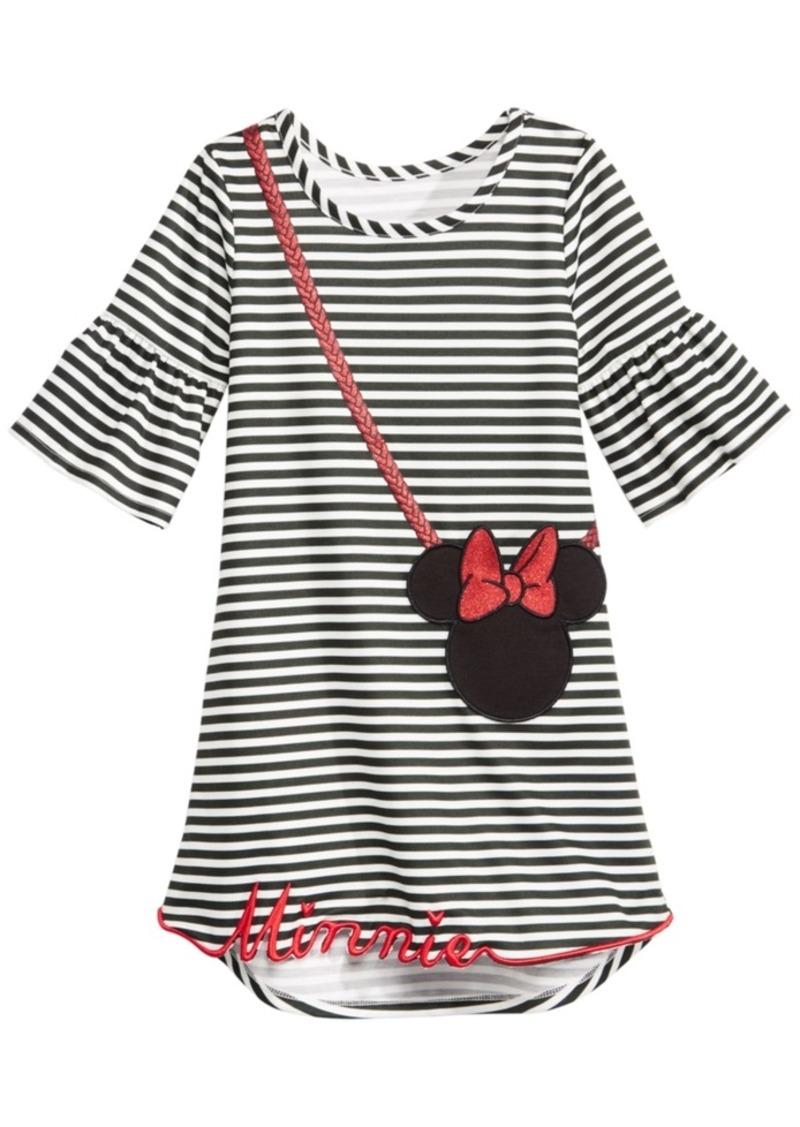 Disney Little Girls Striped Minnie Mouse Purse Dress