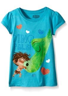 Disney Little Girls' Toddler The Good Dinosaur Dino Pals Puff Sleeve T-Shirt