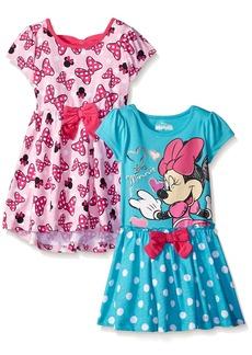 Disney Little Girls' Toddler 2 Pack Love Minnie Dresses