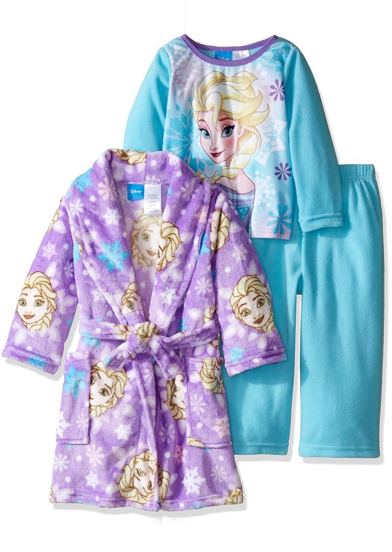 Disney Little Girls' Toddler Frozen Elsa 2-Piece Pajama Set with Robe