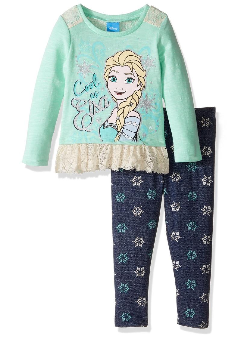 Disney Little Girls' Toddler Frozen Legging Set with Fashion Hacci Top