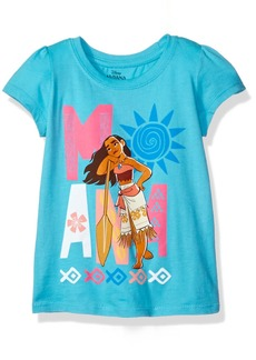 Disney Little Girls' Toddler Moana Short-Sleeved T-Shirt