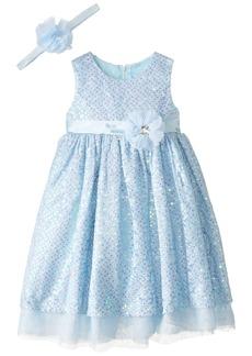 Disney Little Girls' Toddler Princess Cinderella Dress with Matching Tiara