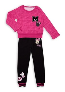 Disney Minnie Mouse Little Girl's Two-Piece Graphic Top & Pants Set