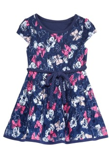 Disney's Minnie Mouse-Print Belted Lace Dress, Baby Girls