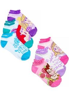 Disney's Princesses No Show Socks, 6-Pack, Little Girls & Big Girls