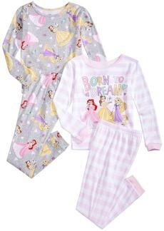 Disney Toddler & Little Girls 4-Pc. Princesses Pajama Set