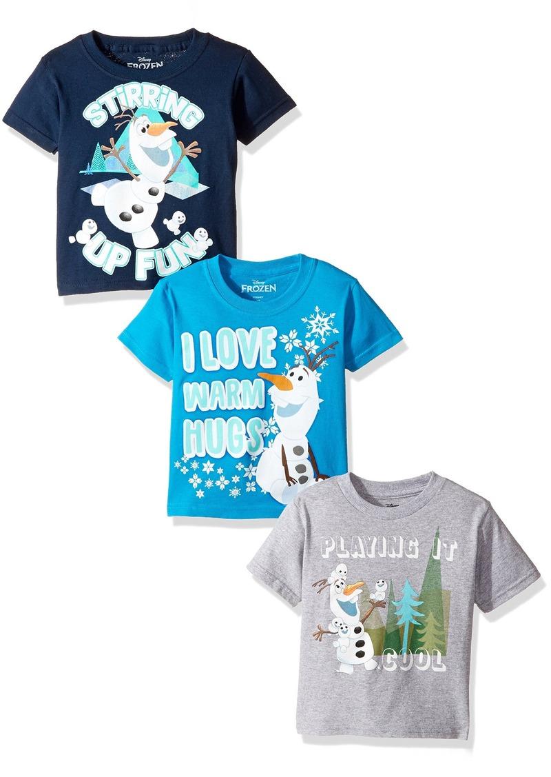 87873ebb Disney Disney Toddler Boys' Frozen Olaf 3-Pack Short Sleeve T-Shirt ...