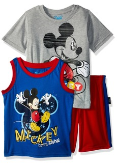 Disney Boys' Toddler Mickey 3 Piece Short Set