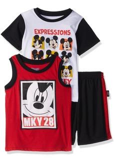 Disney Boys' Toddler Mickey 3 Piece Short Set