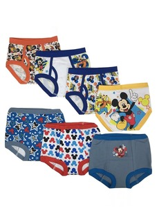 Disney Mickey Mouse Boys Potty Training Pants Underwear Toddler 7-Pack Size 2T 3T