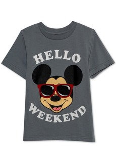 Disney Little Boys Mickey Mouse Hello Weekend Graphic T-Shirt