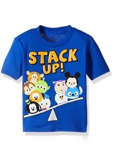 Disney Toddler Boys' Tsum Stack up Short Sleeve T-Shirt