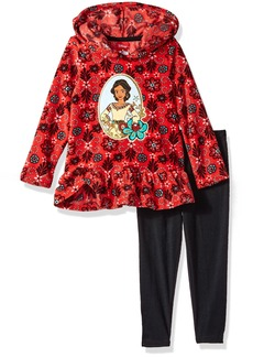 Disney Toddler Girls' 2 Piece Elena Of Avalor Fleece Hoodie With Applique and Pant