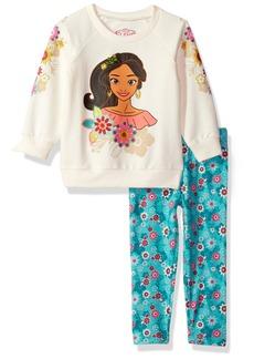 Disney Toddler Girls' 2 Piece Elena Of Avalor Sweatshirt Set