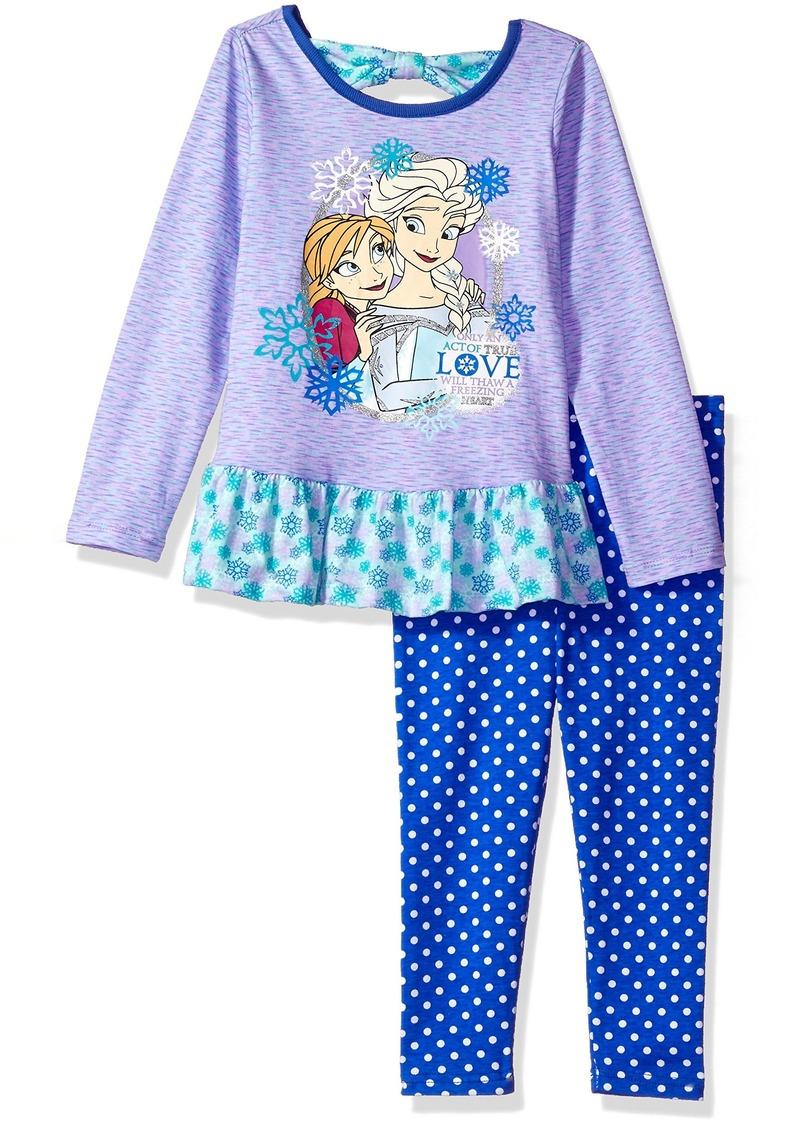 Disney Toddler Girls' 2 Piece Frozen Space Dye Legging Set