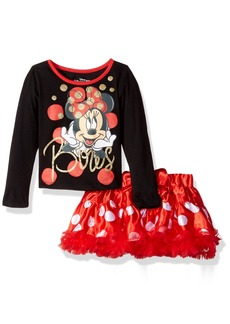 Disney Toddler Girls' 2 Piece Minnie Skirt Set