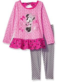 Disney Toddler Girls' 2 Piece Minnie Space Dye Legging Set
