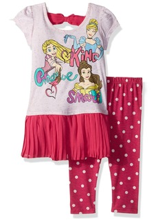 Disney Toddler Girls' 2 Piece Princesses Legging Set  2t