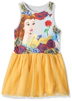 Disney Girls' Toddler Beauty and The Beast Belle Ruffle Dress  5-6