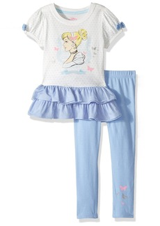 Disney Toddler Girls' Cinderella 2-Piece Legging Set with Tee