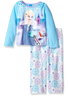 Disney Toddler Girls' Frozen 2-Piece Fleece Pajama Set Blue