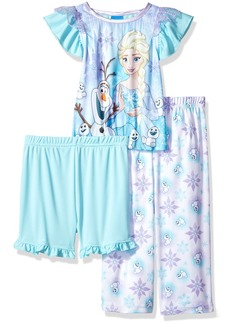 Disney Toddler Girls' Frozen 3-Piece Pajama Set