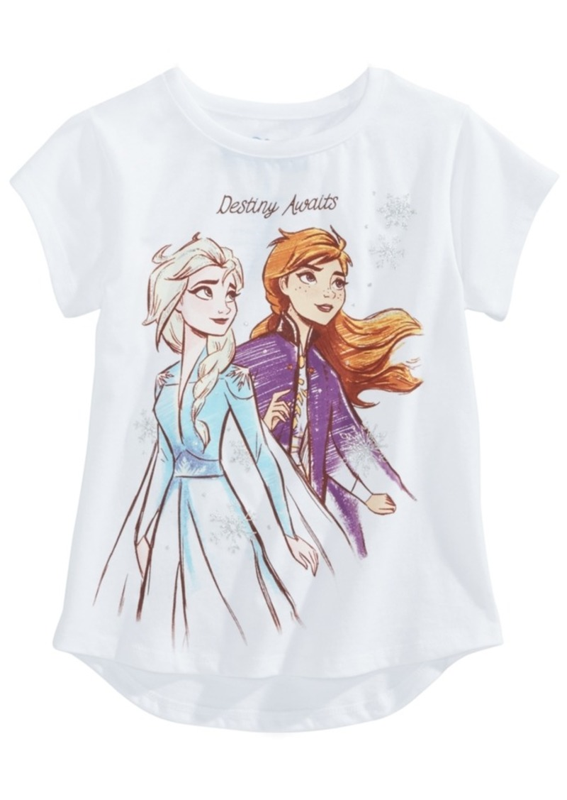 Disney Little Girls Frozen Ii Elsa & Anna T-Shirt