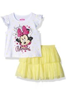 Disney Girls' Toddler Minnie 2 Piece Skirt Set