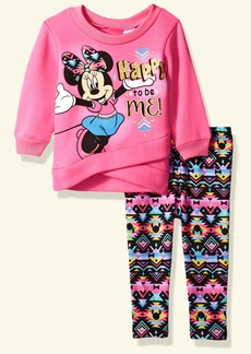 Disney Toddler Girls' Minnie Mouse 2-Piece Fleece Legging Set