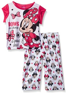 Disney Toddler Girls' Minnie Mouse 2-Piece Fleece Pajama Set