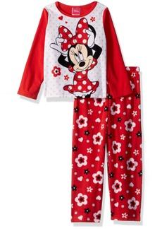 Disney Toddler Girls' Minnie Mouse 2-Piece Fleece Pajama Set