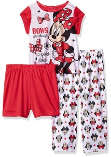 Disney Toddler Girls' Minnie Mouse 3-Piece Pajama Set