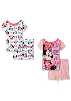 Disney Toddler Girls' Minnie Mouse 4-Piece Cotton Pajama Set