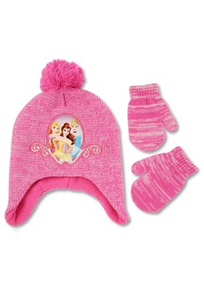 Disney Toddler Girls Princess Character Hat and Mitten Cold Weather Set