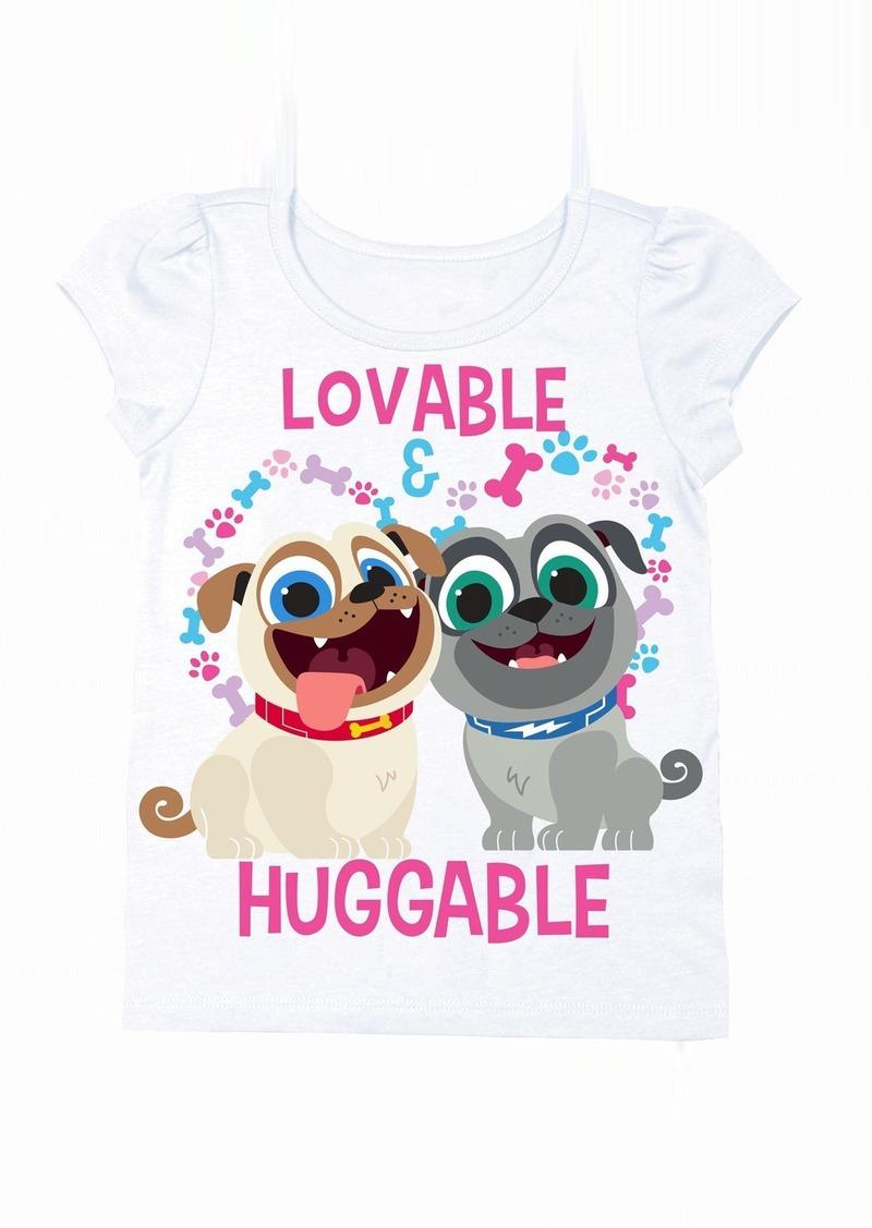 5a4224927ffb Disney Toddler Girls' Puppy Dog Pals Puff Short Sleeve T-Shirt HT Pink