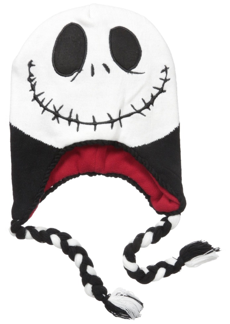 cbe24675a3f2d Disney Big Boys Nightmare Before Christmas Jack Laplander Hat  Black White Red Age 8