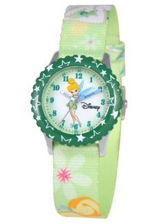 Disney Watch, Kid's Tinker Bell Time Teacher Printed Nylon Strap 31mm W000069