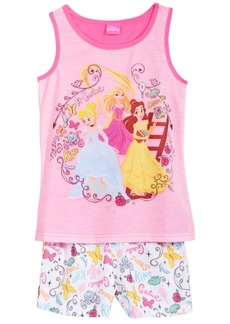 Disney's 2-Pc. Princesses Cinderella, Belle & Rapunzel Pajama Set, Little & Big Girls