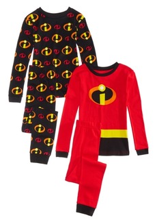 Disney's Big Boys 4-Pc. The Incredibles Cotton Pajama Set